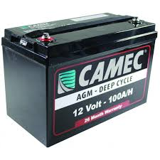 CAMEC 100AH SLA AGM BATTERY, FULLY SEALED – 26 MTH WARRANTY