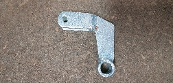 L-Shaped Tailgate Bracket for Gas Strut