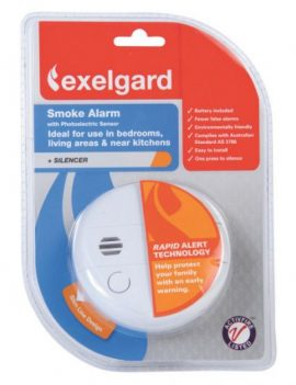 SMOKE ALARM 9V C/W HUSH BUTTON