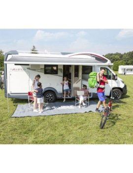 FIAMMA F45 S 4M AWNING – POLAR WHITE CASE, ROYAL BLUE AWNING