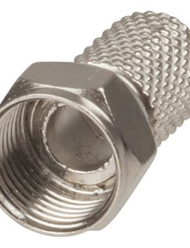 F59 TYPE TWIST-ON Plug Suits RG-6 Cable