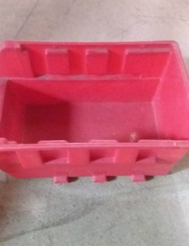 Red Plastic Storage Tray