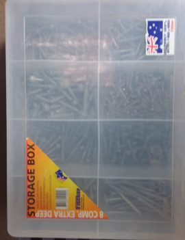 Fischer Storage Box with Screws